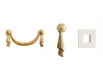 Прикроватная тумба Тиффани Премиум ТФТП-1(П) (слоновая кость, золото)