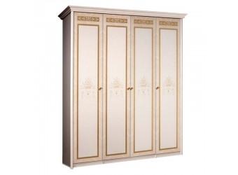 Четырехстворчатый шкаф для одежды Карина-3 К3Ш2/4 с шелкографией (бежевый)