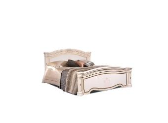Двуспальная кровать с подъемным механизмом Карина-3 К3КР-1 с шелкографией (бежевая)