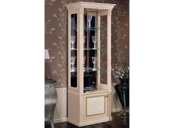 Шкаф-витрина для посуды Карина-3 К3В1-1С(Л) с шелкографией