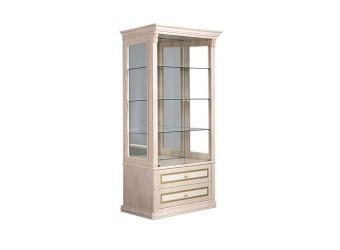 Шкаф-витрина для посуды Карина-3 К3В1-2С(Л) с шелкографией