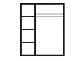 Трехстворчатый шкаф для одежды с зеркалом Карина-3 К3Ш1/3 с шелкографией (орех)
