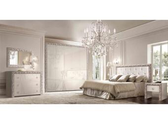 Спальня Тиффани Премиум 3 (слоновая кость, серебро)