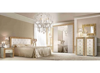 Спальня Тиффани Премиум (слоновая кость, золото)