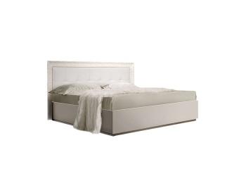 Двуспальная кровать с мягкой спинкой Роза Р1КР-1 (слоновая кость)
