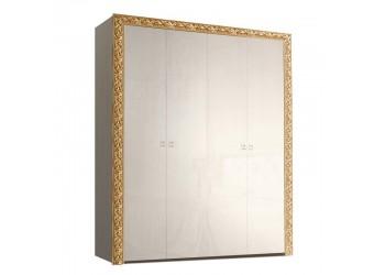Четырехстворчатый шкаф для одежды Тиффани Премиум ТФШ2/4(П) (слоновая кость, золото)
