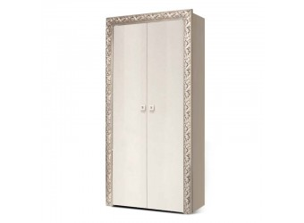 Двухстворчатый шкаф для одежды Тиффани Премиум ТФП-2(П) (слоновая кость, серебро)