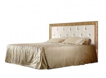 Двуспальная кровать с подъемным механизмом Тиффани Премиум ТФКР-2(П) с мягкой спинкой со стразами (черный, золото)