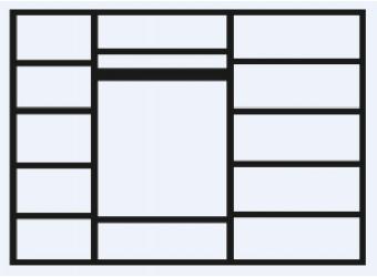 Пятистворчатый шкаф для одежды с зеркалом Тиффани Премиум ТФШ1/5(П) (черный, серебро)