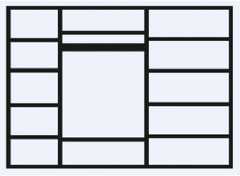 Пятистворчатый шкаф для одежды Тиффани Премиум ТФШ2/5(П) (слоновая кость, золото)