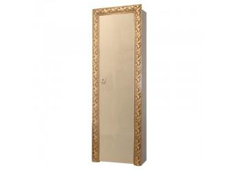 Шкаф-пенал для одежды Тиффани Премиум ТФП-1(П) (капучино, золото)