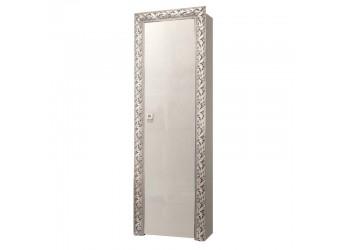 Шкаф-пенал для одежды Тиффани Премиум ТФП-1(П) (слоновая кость, серебро)