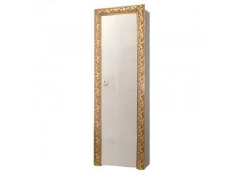 Шкаф-пенал для одежды Тиффани Премиум ТФП-1(П) (слоновая кость, золото)