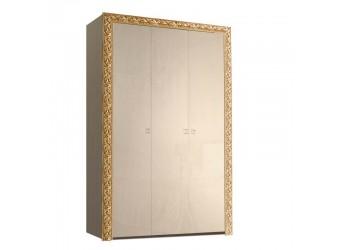 Трехстворчатый шкаф для одежды Тиффани Премиум ТФШ2/3(П) (капучино, золото)