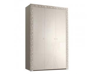 Трехстворчатый шкаф для одежды Тиффани Премиум ТФШ2/3(П) (слоновая кость, серебро)