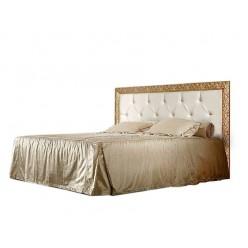 Двуспальная кровать Тиффани ТФКР140-2 с мягкой спинкой со стразами (золото)
