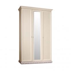 Трехстворчатый шкаф для одежды с зеркалом Тиффани ТФШ1/3 (серебро)