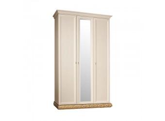 Трехстворчатый шкаф для одежды с зеркалом Тиффани ТФШ1/3 (золото)