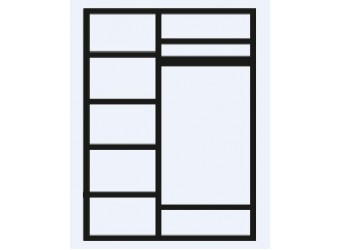 Трехстворчатый шкаф для одежды Тиффани ТФШ2/3 (серебро)