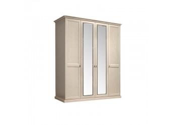 Четырехстворчатый шкаф для одежды с зеркалом Венеция ВНШ1/4 (дуб седан)