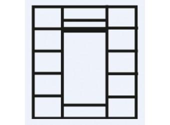 Четырехстворчатый шкаф для одежды Венеция ВНШ2/4 (дуб седан)