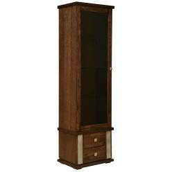 Шкаф с витриной «Тунис» П343.01Ш (венге с золочением)