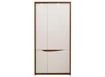 Двухстворчатый шкаф Монако П 510.13-1 (дуб саттер/белый глянец)