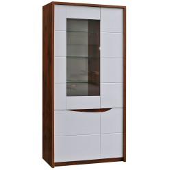 Шкаф-витрина Монако П510.05 (дуб саттер/белый глянец)