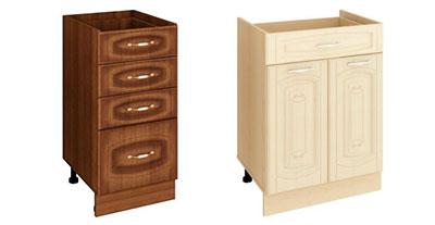 Шкафы кухонные напольные