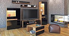 Мебель Леонардо (черная) от Мебель-Неман