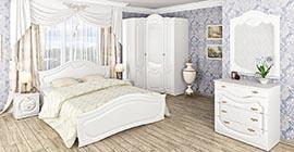 Спальня Орхидея (белая) от Мебель-Неман