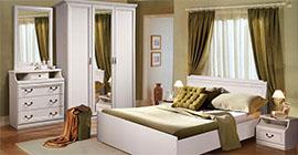 Спальня Нинель (белая эмаль) от Молодечномебель