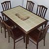 Обеденные столы с плиткой